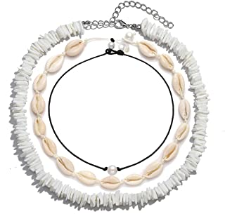 TIKCOOL Cowrie Shell Necklace for Women Seashell Choker...