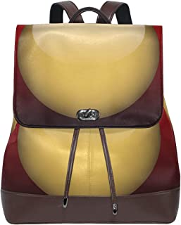 FANTAZIO Mochila Brillante con botón Dorado Bolsa de Viaje