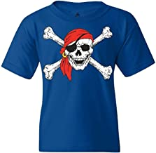 Shop4Ever Pirate Skull & Crossbones Youth's T-Shirt Pirate Flag Shirts