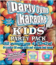 Party Tyme Karaoke – Kids Party Pack (32+32-song Party Pack) [4 CD]
