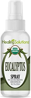 Organic Eucalyptus Spray – Water Infused with Eucalyptus Essential Oil – Certified USDA Organic - 2oz Bottle by Healing So...
