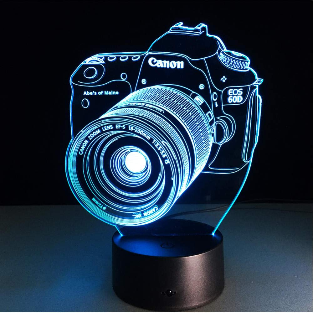 Bedside Table Memphis Mall Lamps Entertainment Camera 3D Lamp Night LED Max 46% OFF Light