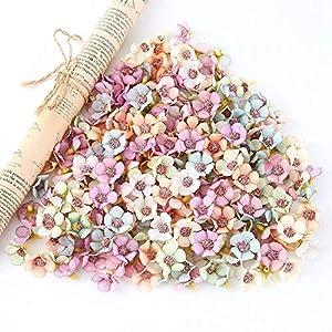 Barley33 100 Piezas 2 cm Cabezas de Flores de Margaritas Multicolores Mini Cabezas de Flores de Seda Artificial Accesorios de artesanía de álbum de Recortes decoración de la Boda de Bricolaje