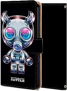 Rakuten Hand ケース 手帳型 カバー スマホケース おしゃれ かわいい 耐衝撃 花柄 人気 純正 全機種対応 WX218-AI知能牛 アニマル レトロ ファッション 5203717
