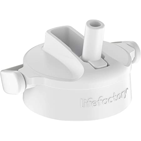 Lifefactory Pivot Straw Cap Accessory for 12-Ounce, 16-Ounce, and 22-Ounce Glass Bottles, Optic White, 1 EA