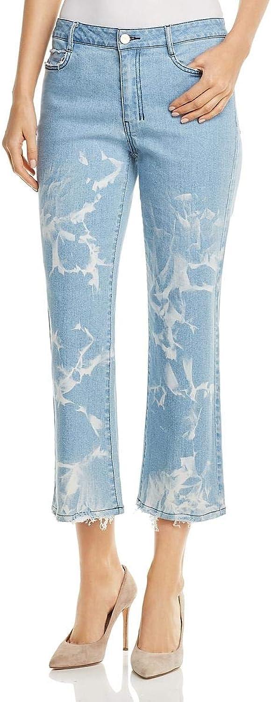 women Karan Womens Denim Whisker Wash Flare Jeans bluee 24