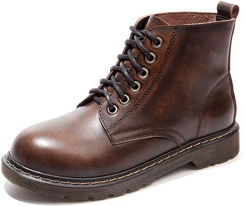 Frauen Martin Stiefel Schnür stiefeletten Chelsea Stiefel Retro Ritter Stiefel Mode Im Freien Wasserdichte Stiefel