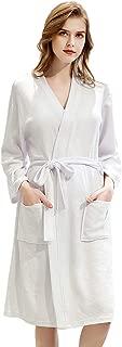 LAISEEM Womens Bath Robes Lightweight Terry Cloth Robe Waffle Spa Robes Summer Unisex Robe Sleepwear