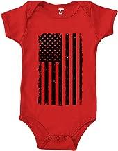 Tcombo Distressed Black American Flag - USA Bodysuit