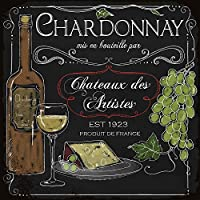 なまけ者雑貨屋 Chardonnay アメリカン ビンテージ風 レトロ アンティーク ブリキ看板 メタルプレート 屋内 用