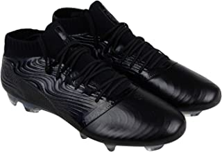 One 18.1 Fg Mens Black Leather Athletic Lace Up Soccer Shoes 13
