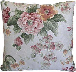 textile4home Gloria - Juego de 2 fundas de cojín (45 x 45 cm, 85% algodón, 15% poliéster), diseño de flores