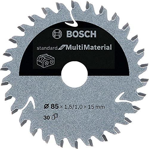 Bosch Professional 2608837752 Disco de sierra circular Standard, MultiMaterial, 30 dientes, accesorio de sierra circular sin cables, 85 x 15 x 1,5 mm