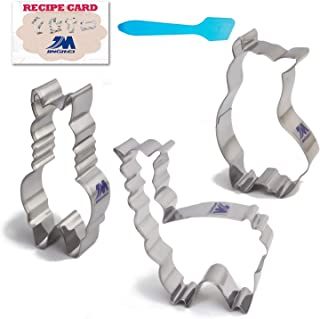 Llama/Alpaca Cute Cookie Cutter Set with Recipe 3 Piece set 4Inch stainless steel