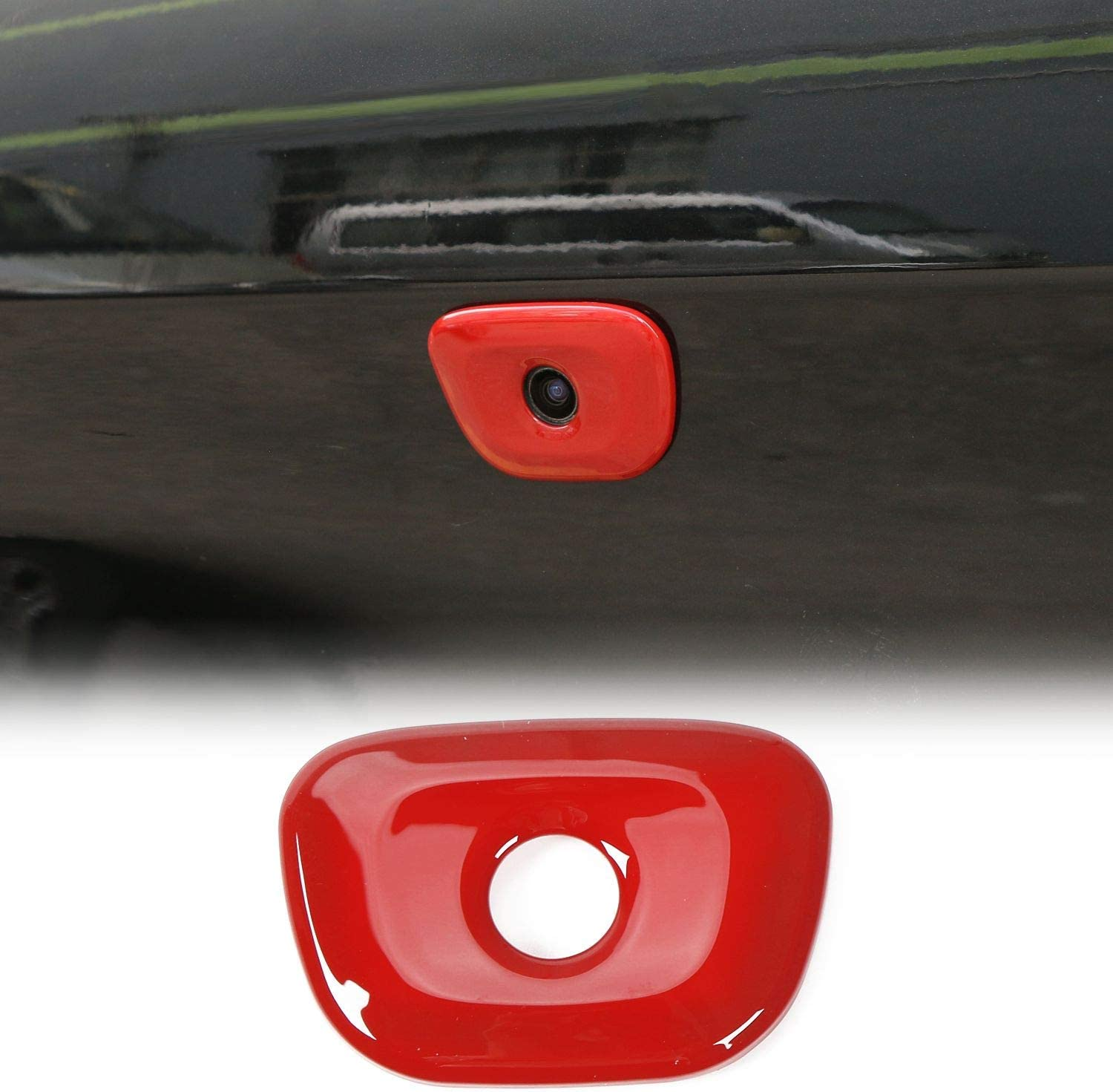JeCar for Dodge Charger Rear View Camera Reverse Backup Camera Trim Cover Sticker Decals Challenger Accessories for Dodge Charger 2015-2019
