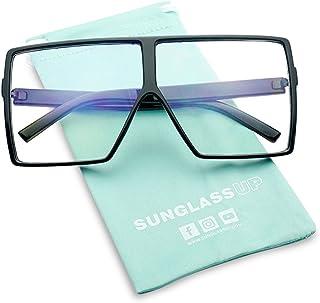 686cec21434 Big XL Large Oversized Super Flat Top Square Two Tone Color Fashion  Sunglasses