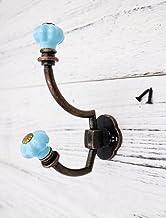 Pompoen Keramische Muurhaken Decoratieve Haken Muurhaak Antieke Retro Kleerhangers Hanger Rack Haken Metalen Meubels, Blauw