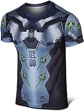 Rulercosplay Fashion Cosplay Shirt Genji Design Short Sleeves Elastic Sport Shirt Quick Dry Shirt