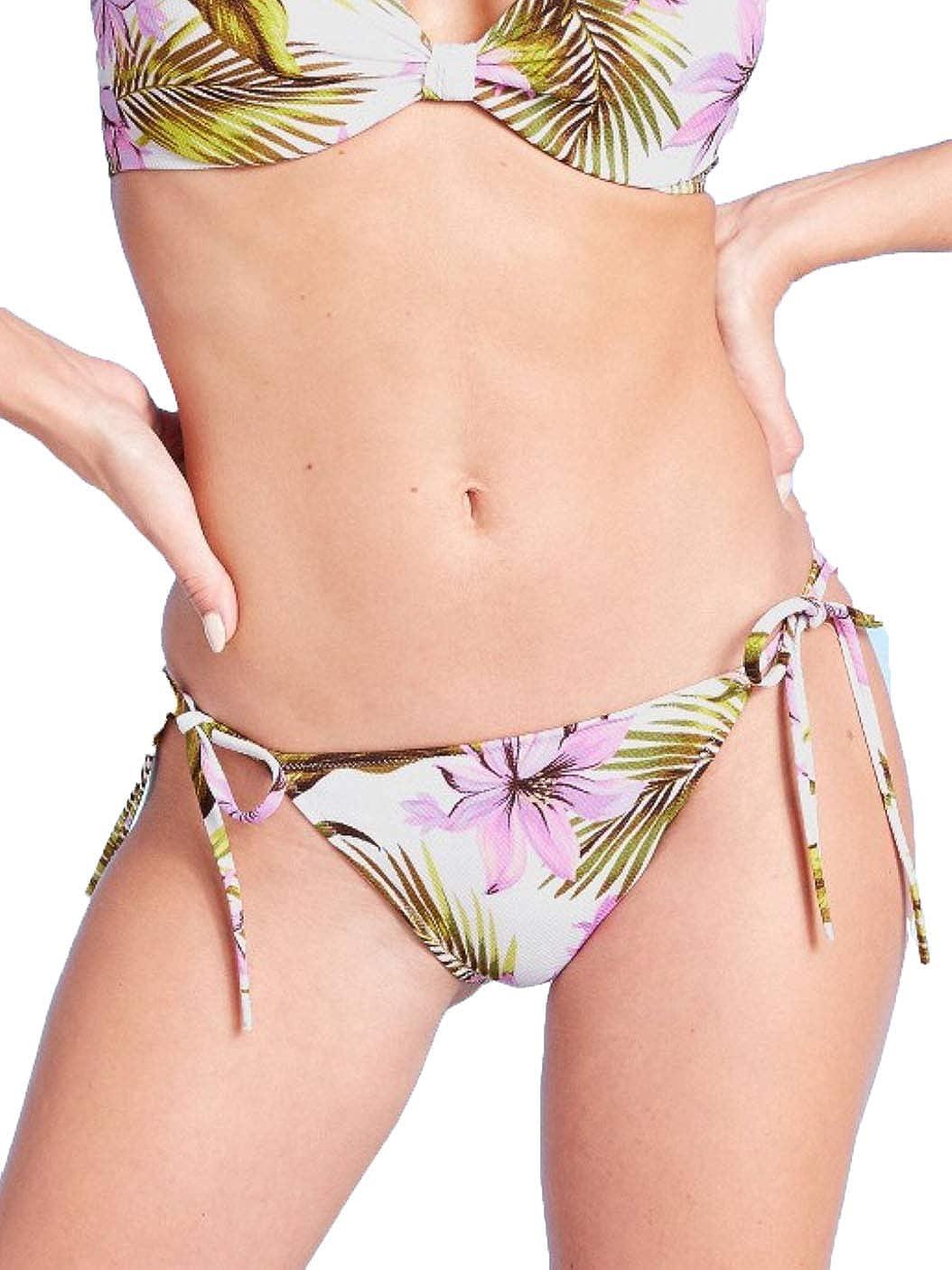 Shade & Shore Women's Side-Tie Ruffle Cheeky Bikini Bottom -