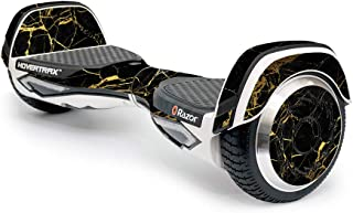 MightySkins Skin Compatible with Razor Hovertrax 2.0 Hover Board - Black Gold Marble | Protective, Durable, and Unique Vinyl wrap Cover | Easy to Apply, Remove, and Change Styles | Made in The USA