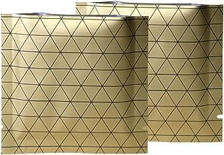 100 Double-Sided Aluminum Color Open Bottom Bags w/Black Prism (7x7cm (2.7x2.7