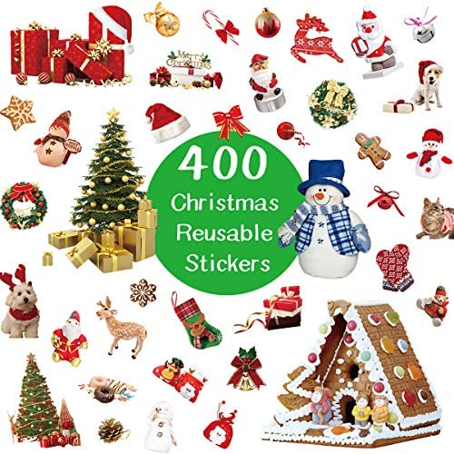 Christmas Stickers for Kids 400 Assortment Holiday Stickers for Party Favors 8 Sheets product image
