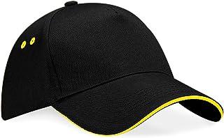 Beechfield Unisex Ultimate 5 Panel Contrast Baseball Cap with Sandwich Peak/Headwear