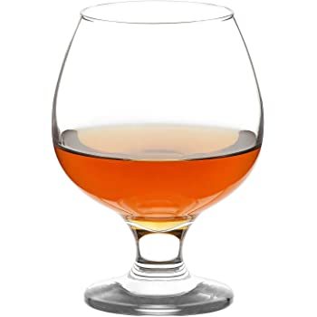 LAV Brandy Snifters 6-Piece 13.25 Oz Cognac Glasses Set, Clear Small Glass Snifters Perfect for Scotch & Bourbon & Whiskey and Spirits, Short Beer Tasting Glasses, Lead-Free