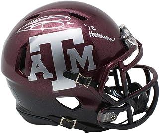 430780b2f44 Johnny Manziel Signed Texas A M Aggies Mini Speed Two Tone Helmet 12  Heisman Inscribed JSA