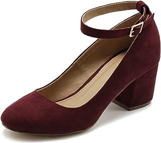 Best red velvet chunky heels Reviews