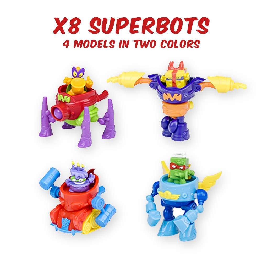 Superzings - Serie 3 - Caja con colección completa de 8 robots y 8 figuras , color/modelo surtido: Amazon.es: Juguetes y juegos