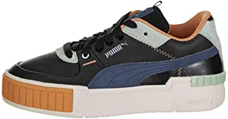 Womens Cali Sport Mix Lace Up Sneakers Shoes Casual - Black