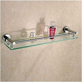 Antirouille Étagère en verre salle de bains avec étagère de rangement Organisateur verre trempé porte-serviettes en verre ...