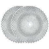 Spiegelau & Nachtmann, 2-er Set Platzteller rund, Kristallglas, Rumba, Größe: 32 cm, 0089995-0