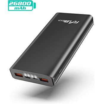 FLYLINKTECH Batería Externa 26800mAh QC 3.0 Power Bank Cargador ...