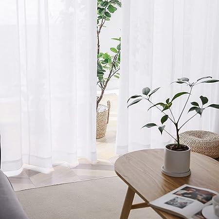 AIFY レースカーテン 春夏 小窓 外から見えにくい 透けない UVカット 遮光 遮像 日焼け 防止 [省エネ] 保温 遮熱 断熱 一人暮らし プライバシ 洗える 洗濯機対応 2枚組 幅100×丈176cm