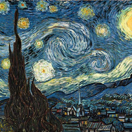 Famous Paintings Magnetic Dishwasher Door Cover Sheet, Vinyl Decorative Panel Decal For An Instant, Easy Update (23.5 x 26 Inches, Easily Trimmable, Starry Night)