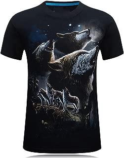 3D T-Shirt Mens Summer Animal Snake Tiger Wolf Lion Printed T-Shirts Men Cotton Casual T Shirt