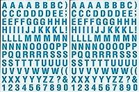 (シャシャン)XIAXIN 防水 PVC製 アルファベット ステッカー セット 耐候 耐水 数字 キャラクター ミニサイズ 表札 スーツケース ネームプレート ロッカー 屋内外 兼用 TSS-105 (2点, サックスブルー)