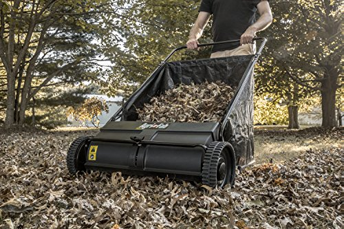 Agri-Fab 45-0218 26-Inch Push Lawn Sweeper, Black