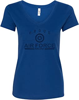 Proud Air Force Mom V-Neck T-Shirt Air Force Military