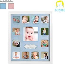 Collage Photo Frame for Baby First Year Keepsake, 12 Months Picture Frames for Baby Boy Girl Newborn 1st Birthday Gifts Ideas Size 11 x 13 x 1 inch with 13 Slots for Home Decor in White Frame Wood