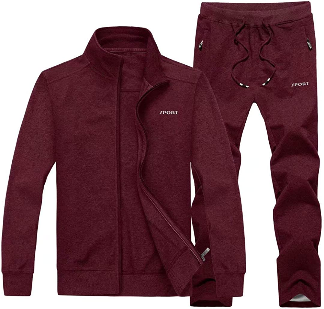 New Orleans Mall KEFITEVD Men's Tracksuits 2 Sale item Pieces Casual Long Jo Sleeve Running
