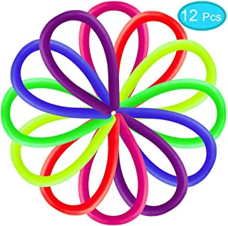 ZONESTA 12 Packs Colorful Sensory Fidget Stretch Toys-Stretchy Strings Stretchy Noodles Fidget Toy for Relaxing Therapy Relief Stress Toy for Kids