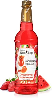 Jordan's Skinny Syrups | Sugar Free Strawberry Watermelon Syrup | Healthy Flavors with 0 Calories, 0 Sugar, 0 Carbs | 750ml/25.4oz Bottle