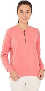 Jockey Women's Sweatshirt, Passion Red Melange