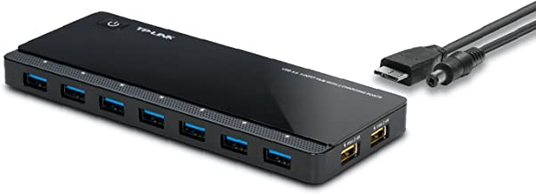 [2nd Gen]TP-Link 9-Port USB 3.0 Hub with 7 USB 3.0 Data Ports and 2 Smart Charging USB Ports. Compatible with Windows, Mac, Chrome & Linux OS, with Power On/Off Button (UH720)