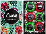 BRUBAKER Cosmetics Bombas efervescentes 'Jungle' - 6 piezas - hecho a mano y vegetariana