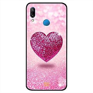 Huawei Nova 3 Case غطاء زهري لامع قلب