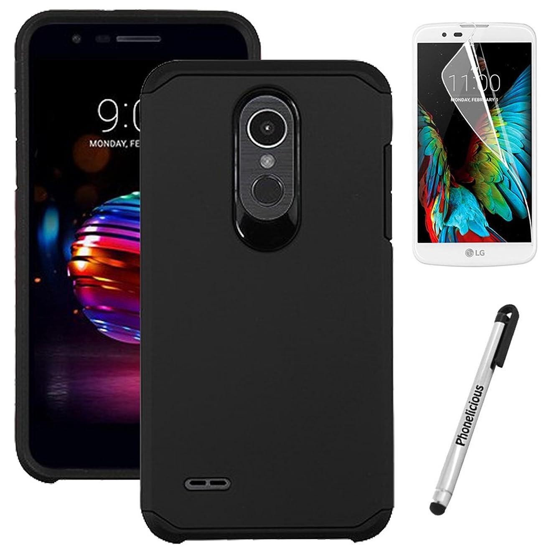 Phonelicious Slim Case Series for LG K30 / LG Premier PRO 4G LTE / L413DL / L413DG [Shock Proof] Phone Cover + Screen Protector & Stylus (Black)